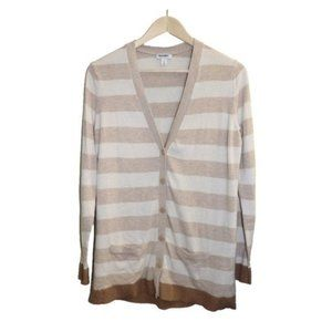 Old Navy Long Striped Button Up Cardigan Sweater